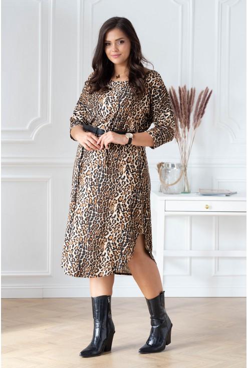 sukienka z wzorem w panterkę celin