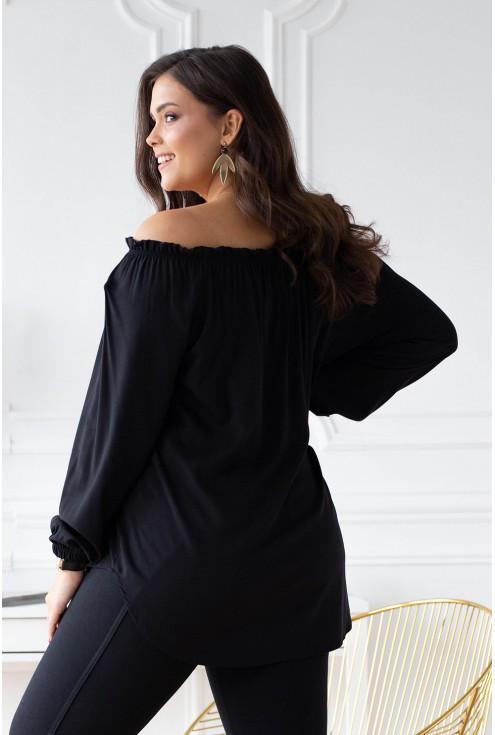 czarna bluzka plus size w sklepie xl-ka.pl
