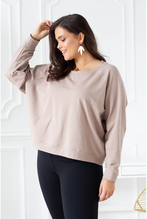 beżowa bluza plus size