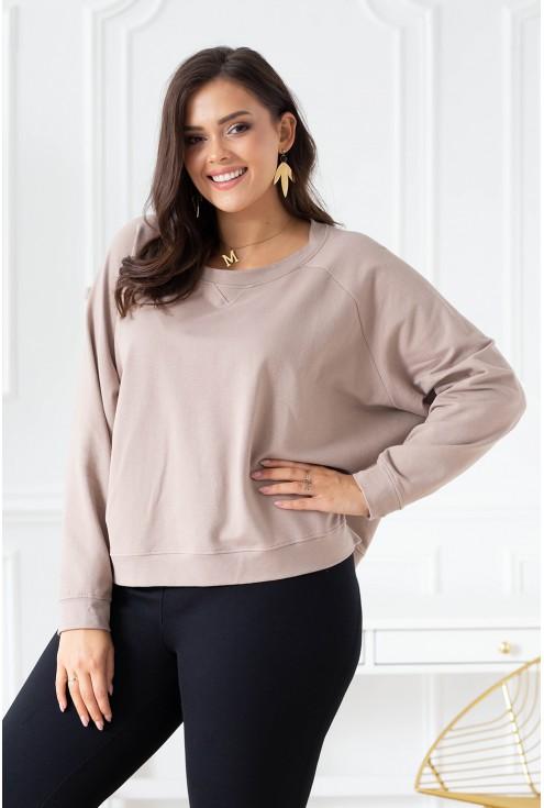 beżowa bluza duże rozmiary