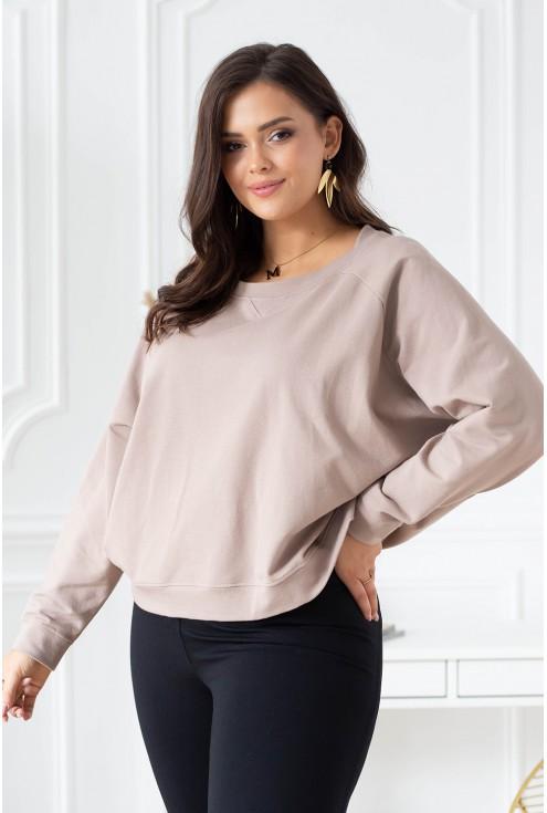 bluza oversize w pięknym beżowym kolorze