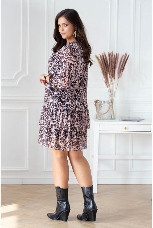 tył pudrowej tuniki duże rozmiary dla kobiet sklep xl-ka.pl