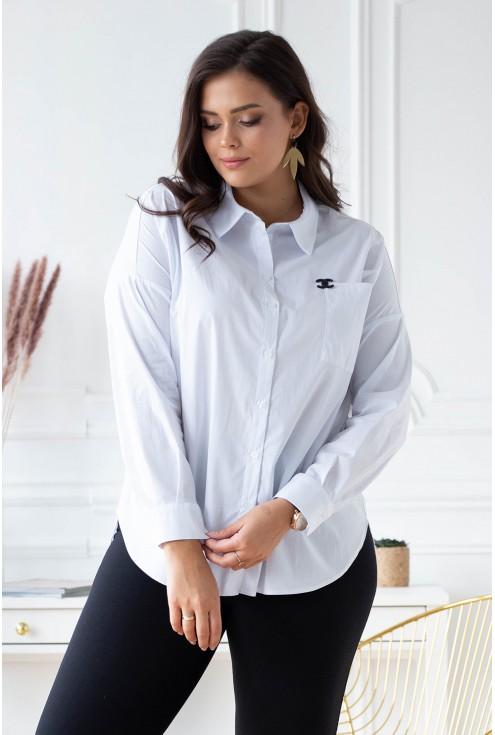 biała klasyczna koszula plus size