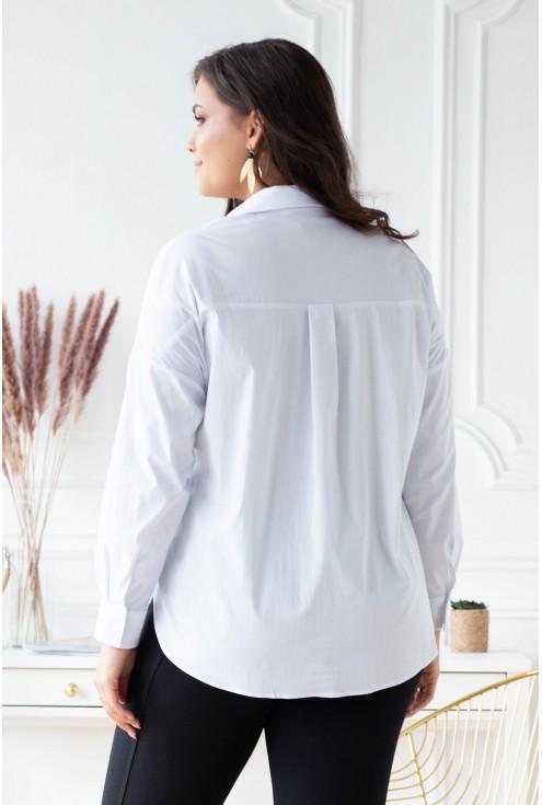 tył białej koszuli plus size xxl