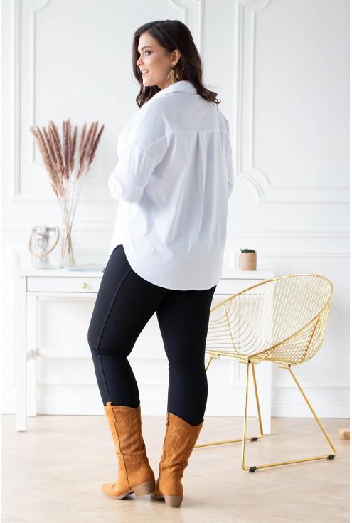 tył damskiej białej koszuli plus size sklep XL-ka.pl
