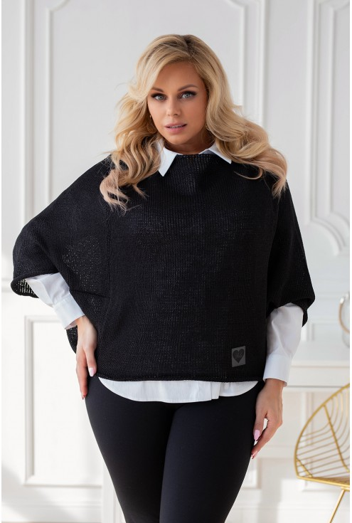 Czarny sweter oversize Camila