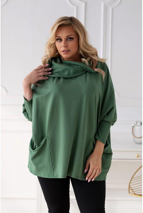 Zielona bluza z kieszeniami Catrice