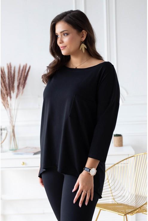 czarna tunika plus size sklep xl-ka.pl