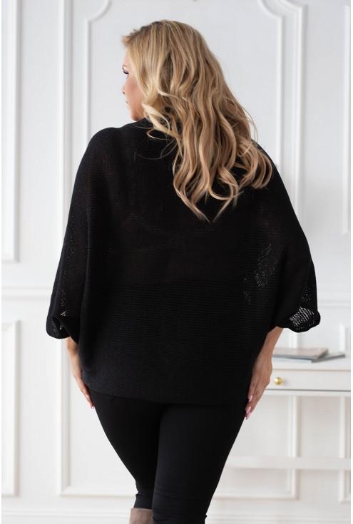 Tył czarnego swetra Camila