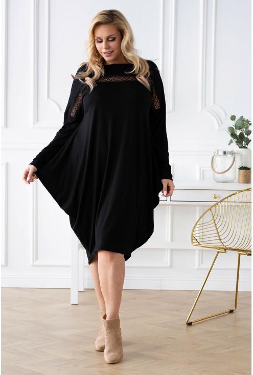 czarna sukienka livi plus size