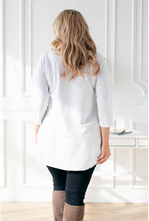 Tył białej bluzki/tuniki