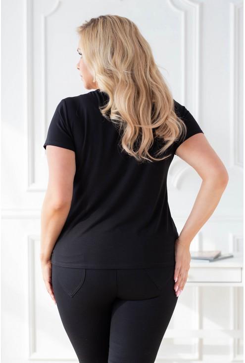 Tył czarnej klasycznej bluzki