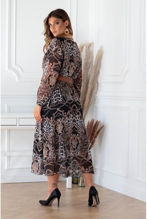Czarna sukienka maxi MIKAYLA