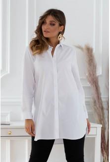biała koszula zapinana na guziki xxl