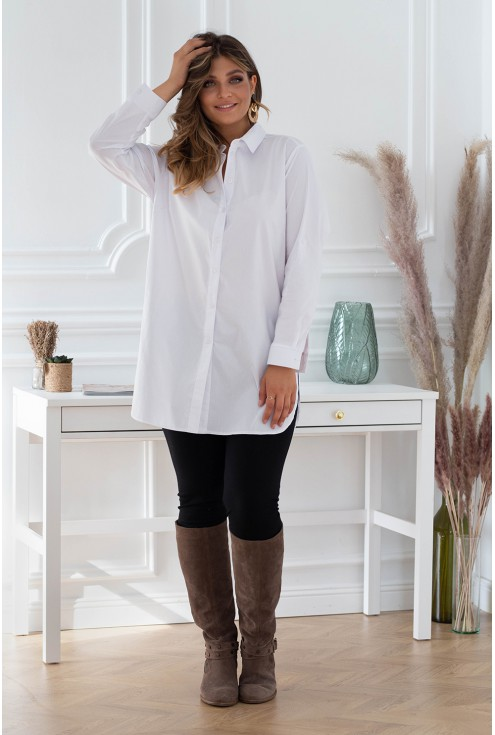 biała długa koszula/tunika xxl