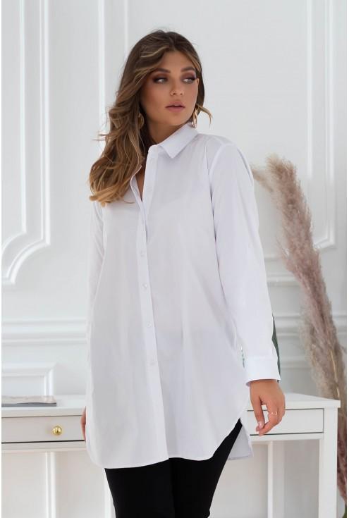 elegancka długa koszula - duże rozmiary