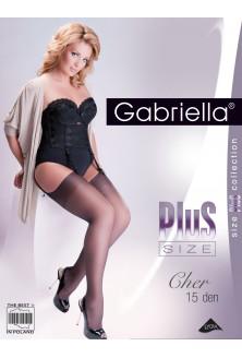 czarne pończochy do pasa gabriella calze cher 15 den XL-ka.pl