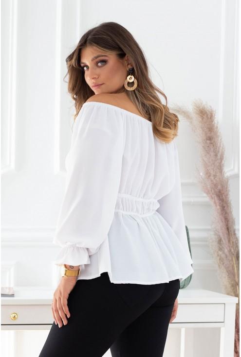 Biała bluzka hiszpanka xxl