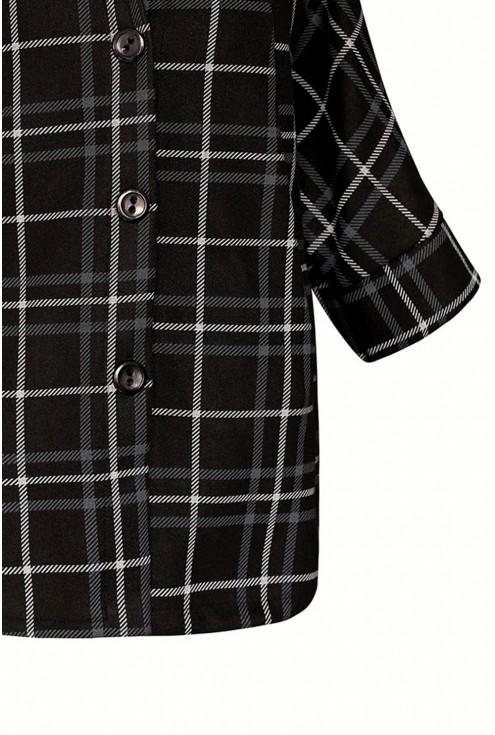 Czarny elegancki płaszcz plus size