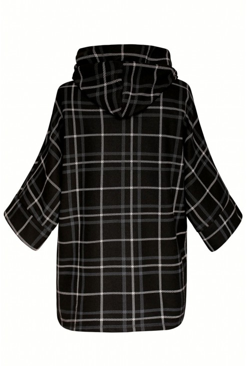 Czarny płaszcz Andrea xxl