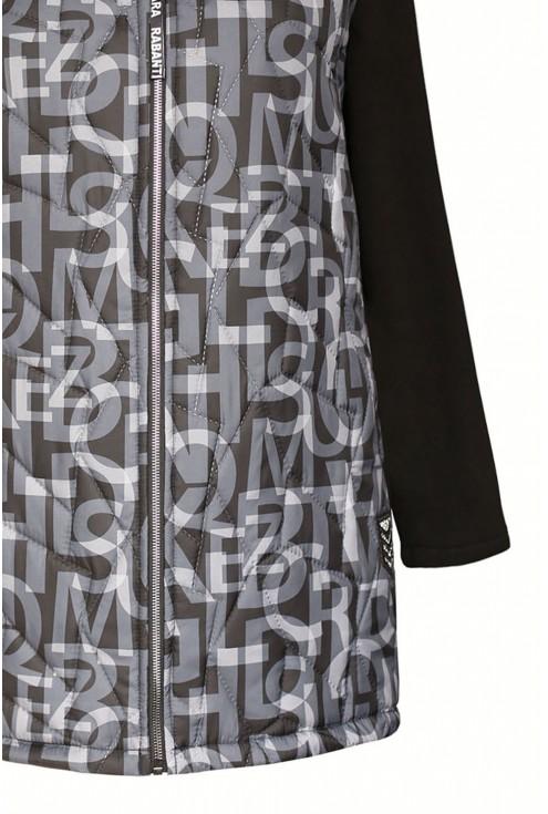 Czarna bluzo-kurtka plus size