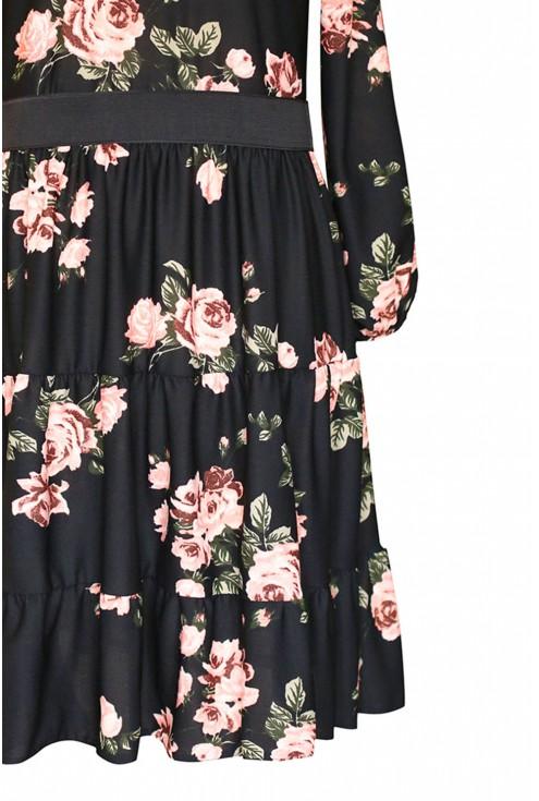 detal falbana sukienki