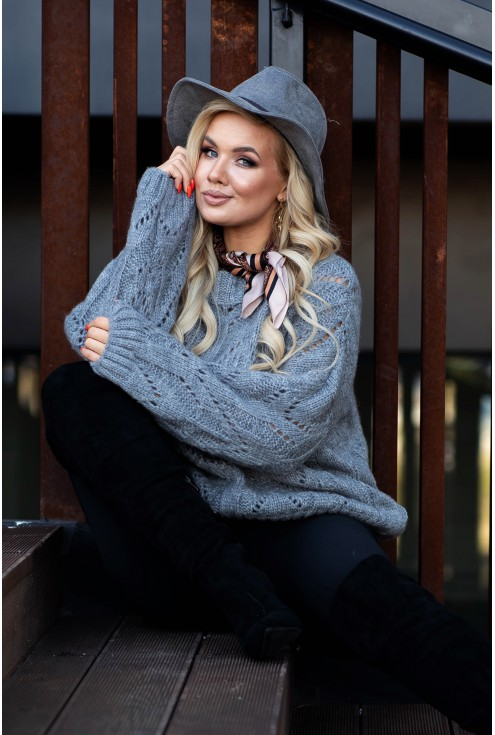 ażurowy sweter xxl