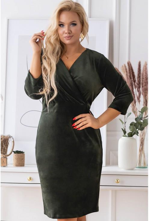 ciemnozielona sukienka lisha xxl