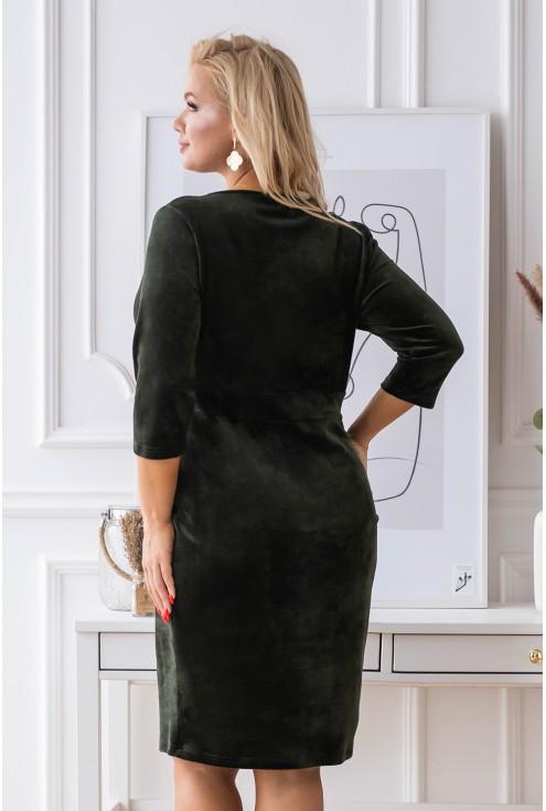 tył ciemnozielonej sukienki lisha