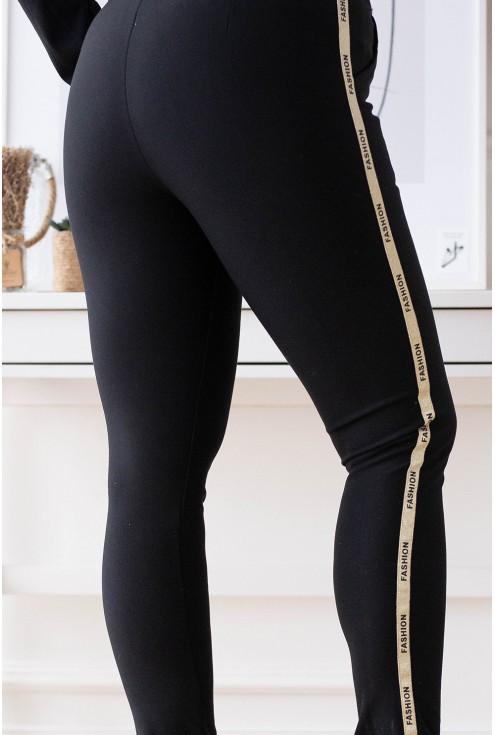 Czarne eleganckie spodnie dresowe