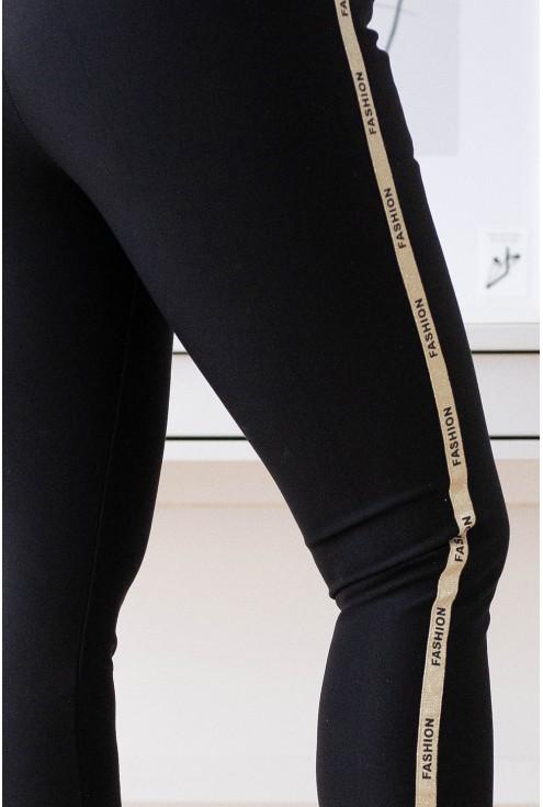 eleganckie dresowe spodnie z napisami