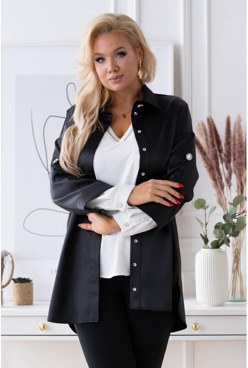 czarna elegancka koszula xxl