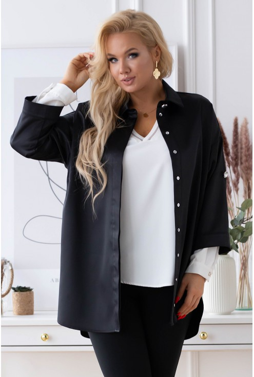 czarna elegancka koszula duże rozmiary