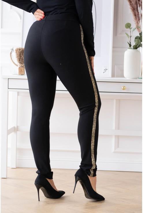 Czarne eleganckie spodnie dresowe xxl