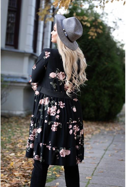 Tył sukienki z falbankami xxl