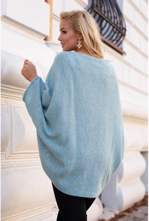 tył swetra z obniżoną linią ramion