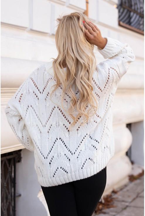 Tył Kremowo/białego swetra