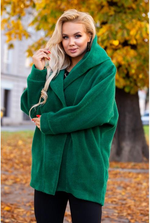 zielony płaszcz Livien