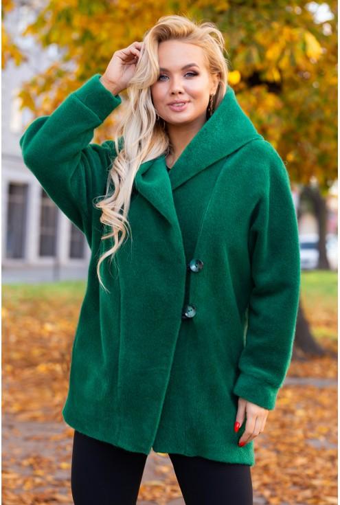 Zielony ciepły płaszcz xxl