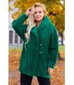 Zielony płaszcz z kapturem - LIVIEN