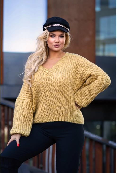 Musztardowy sweter Emilla