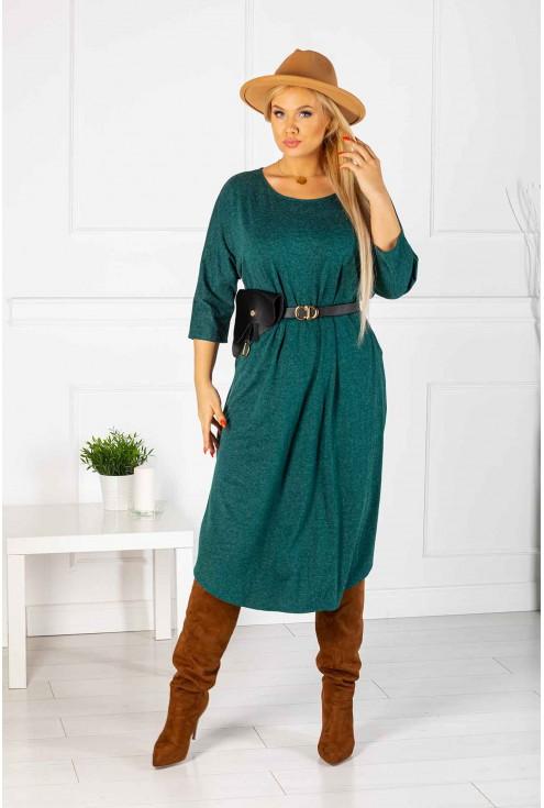 długa butelkowa sukienka plus size