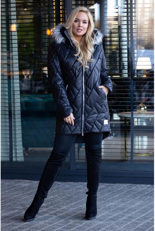 Pikowana kurtka na zimę xxl