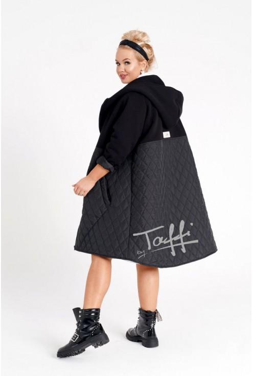 bluzo-kurtka z łączonych materiałów