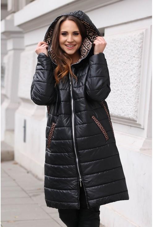 zimowa kurtka ze wzorem xxl