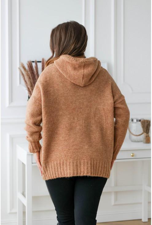 tył swetra kangur plus size xxl