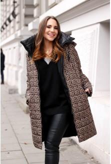kurtka plus size zimowa wzór