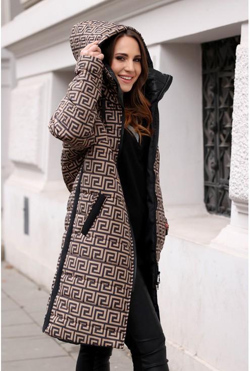 kurtka plus size z wzorem xxl