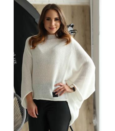 Ecru sweterek z obniżoną linią ramion - Carina