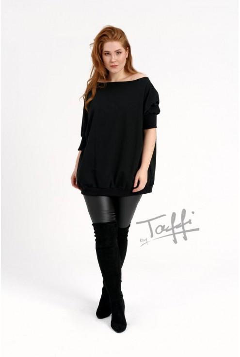 czarna uniwersalna bluza plus size WEEKEND